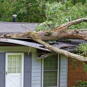 آسیب باد به سقف شینگل